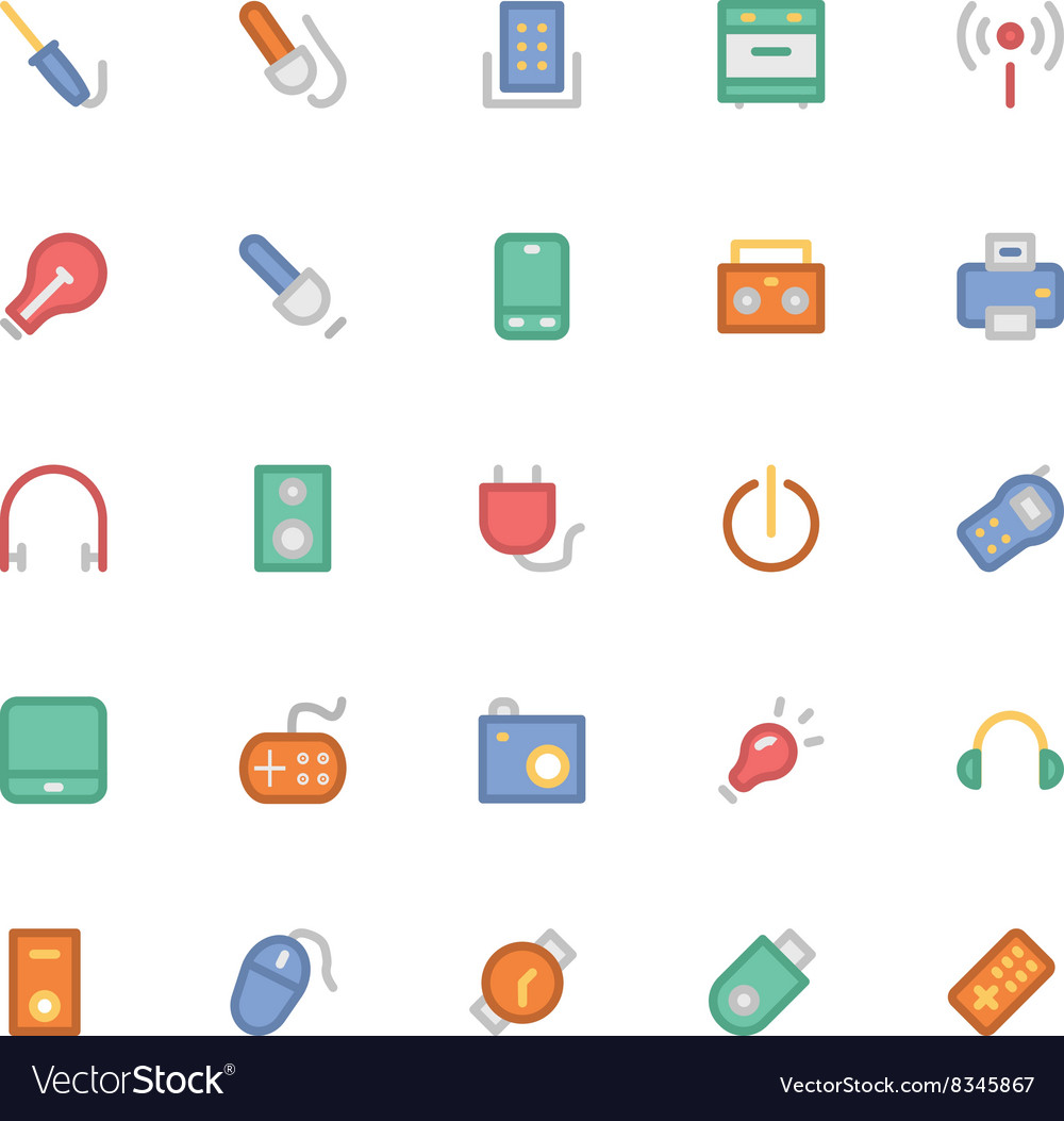 Electronics Colored Icons 6