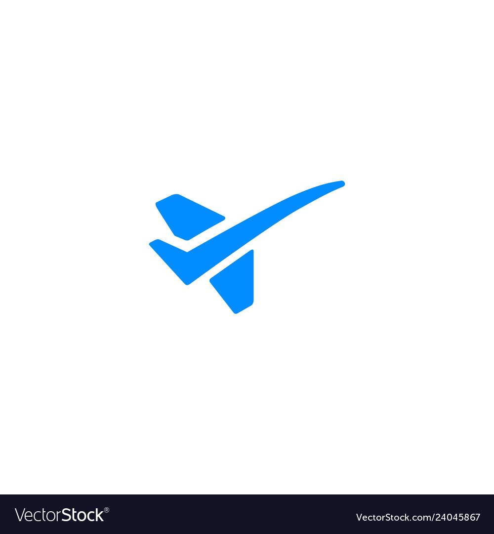 Flight check jet logo icon