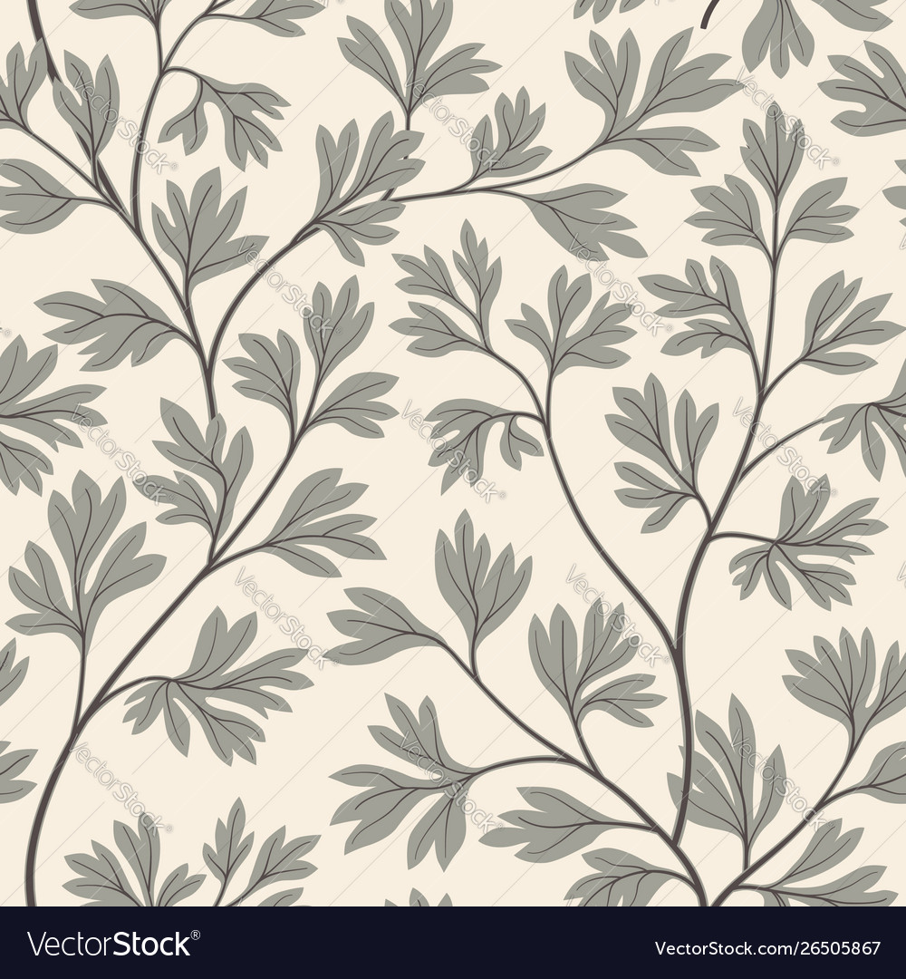 Floral leaves seamless pattern graden lush leaf