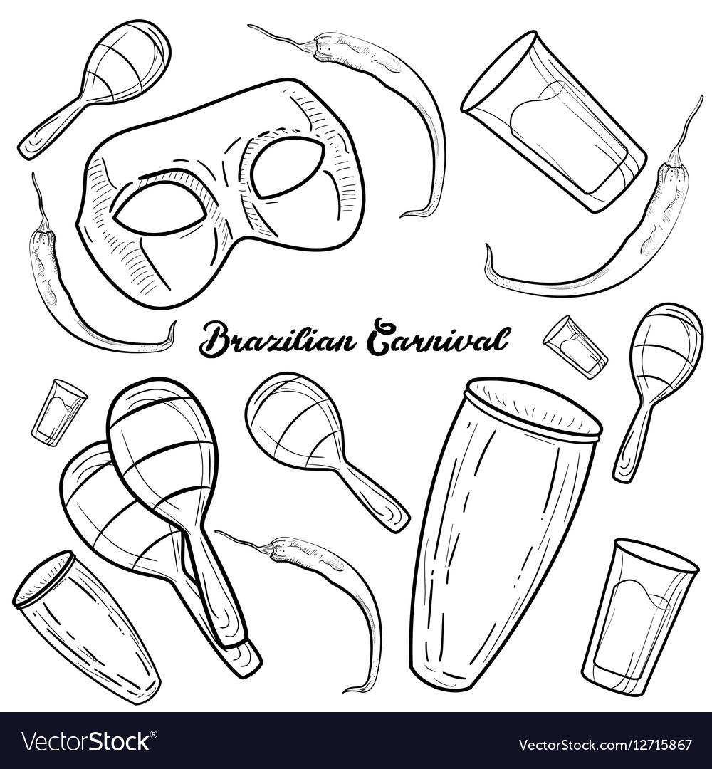 Hand drawn Brazilian Carnival element