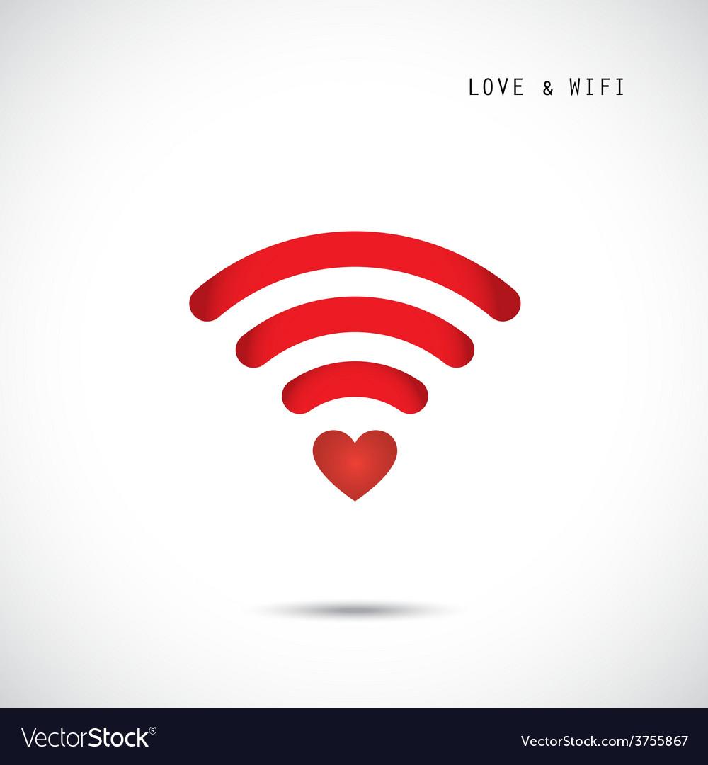 Heart shape and wifi sign