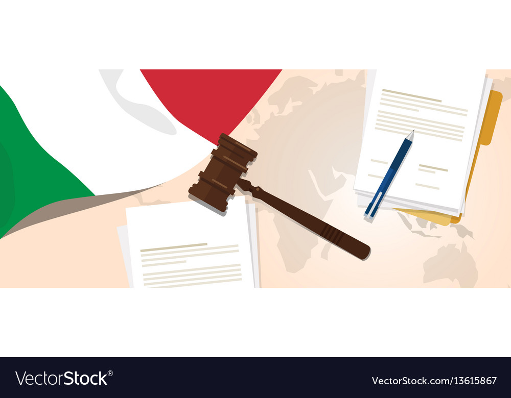 Italy law constitution legal judgment justice vector image