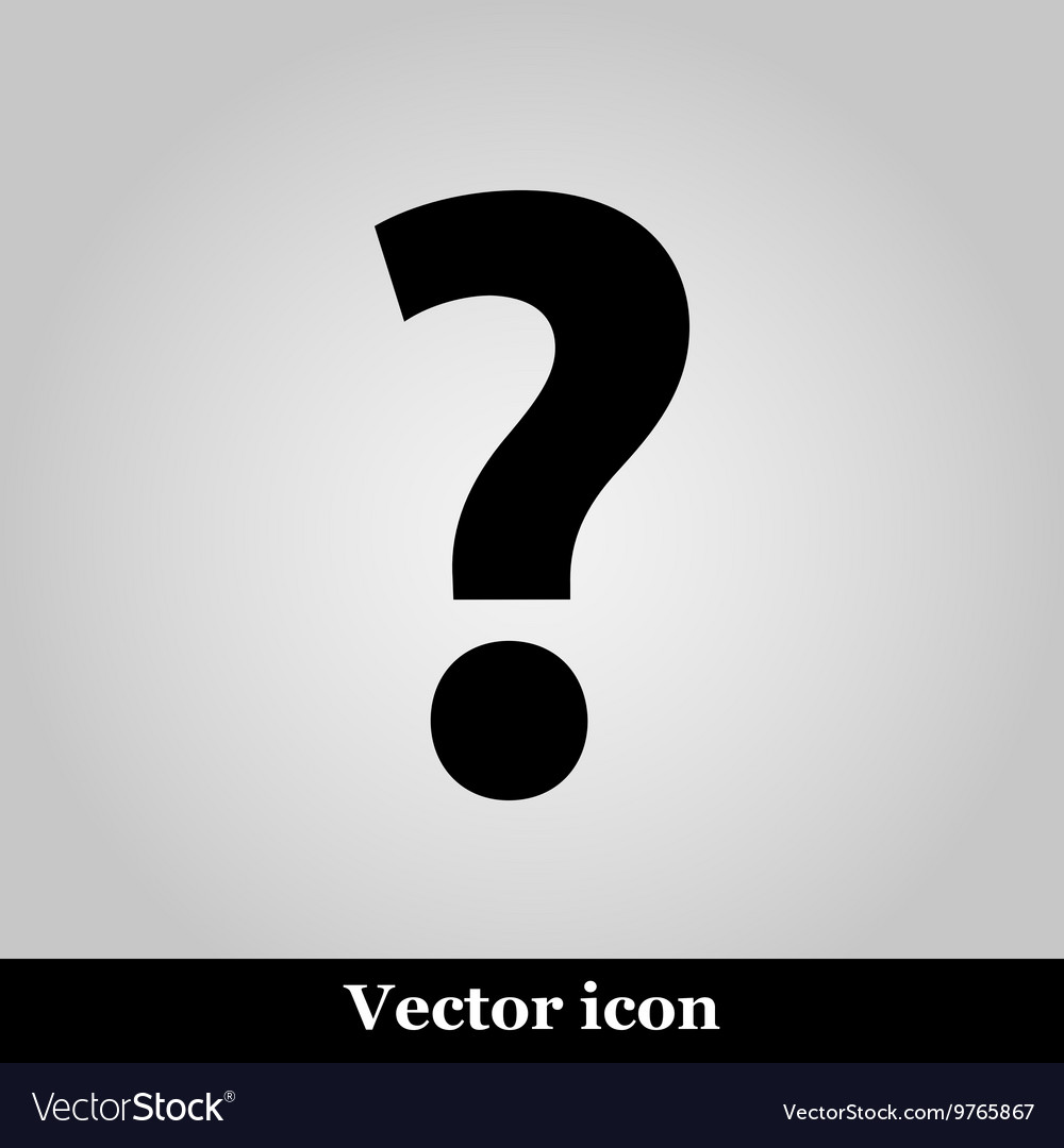 Question Icon Picture on grey background