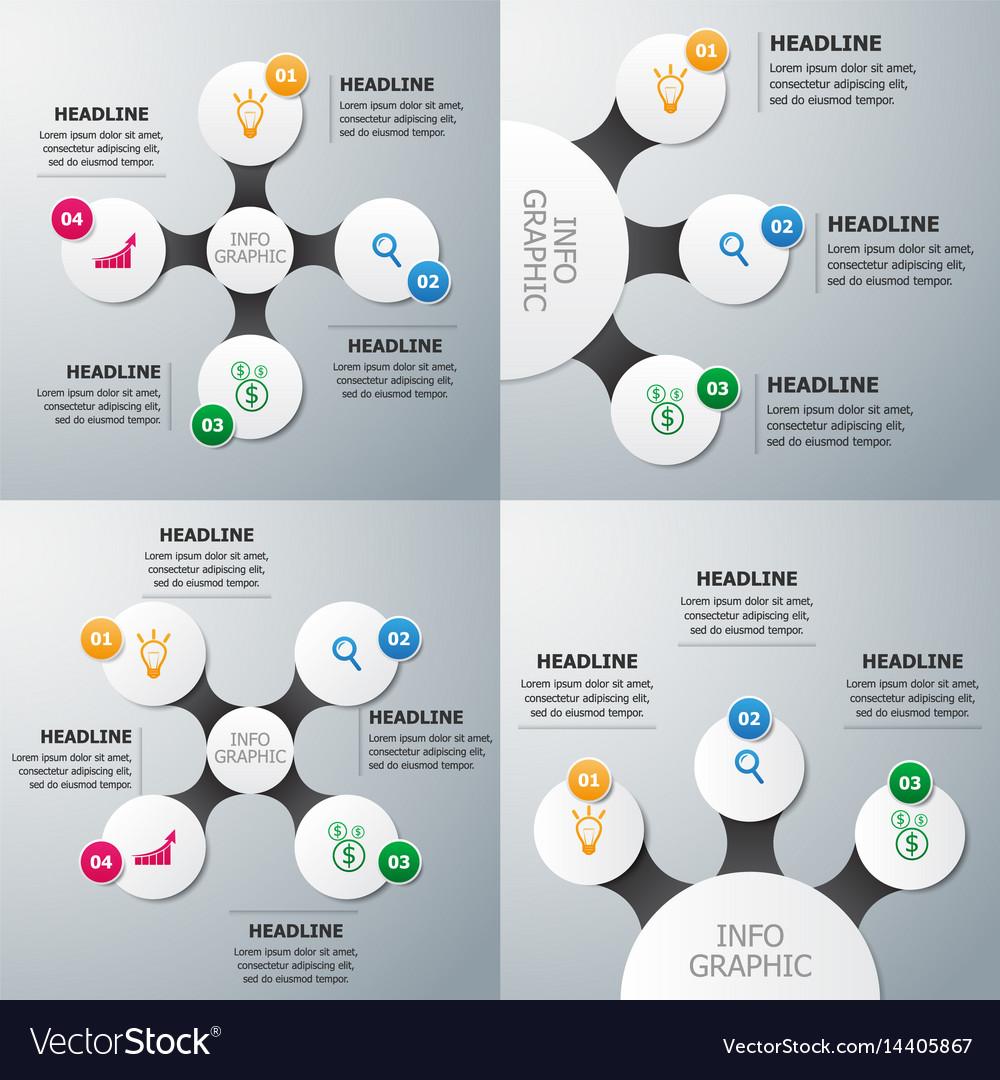 Set of circle infographics template