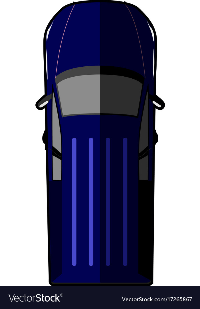 Top view of a car