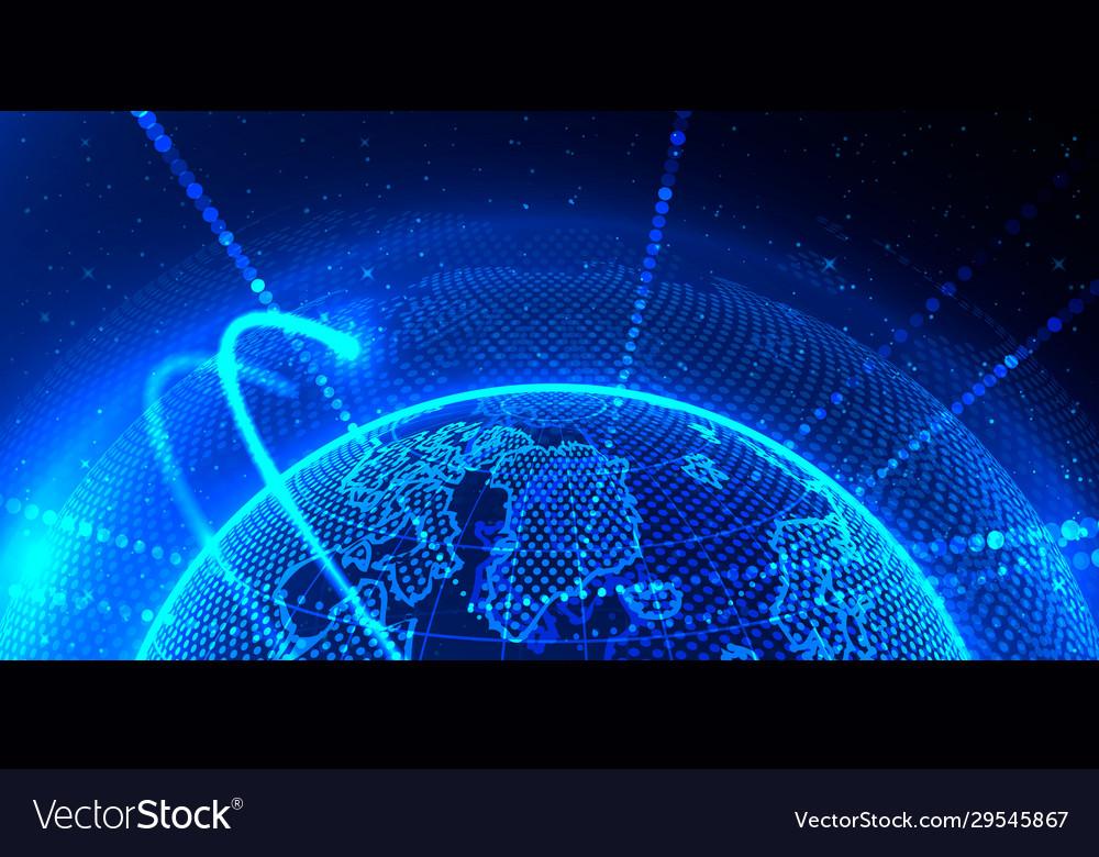 Transfer element global planet earth point black