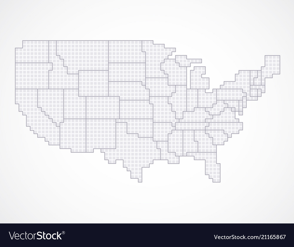 United states blank map with borders