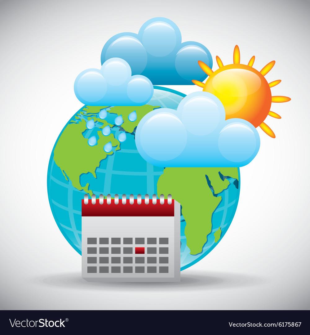 Weather Report Royalty Free Vector Image Vectorstock