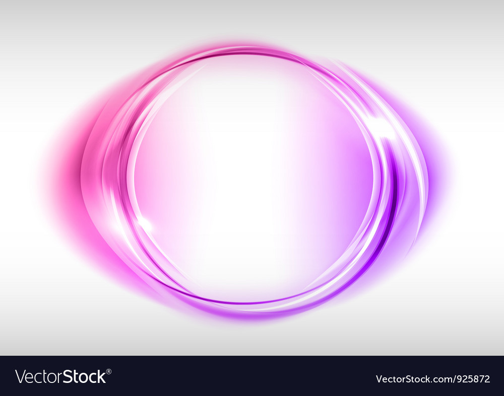 Abstract round on white purple