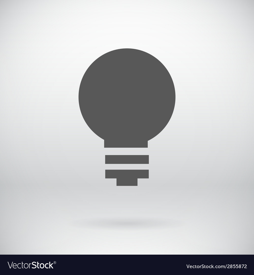 Flat Save Energy Bulb Light Icon Symbol Background vector image