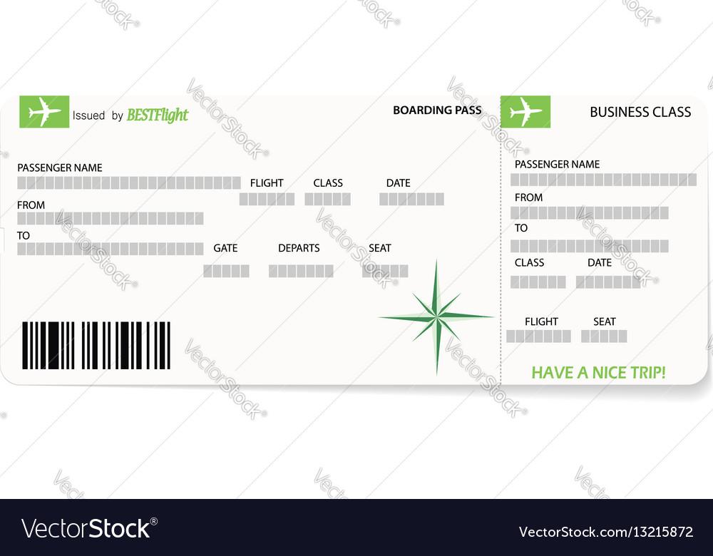 Green pattern of a boarding pass ticket