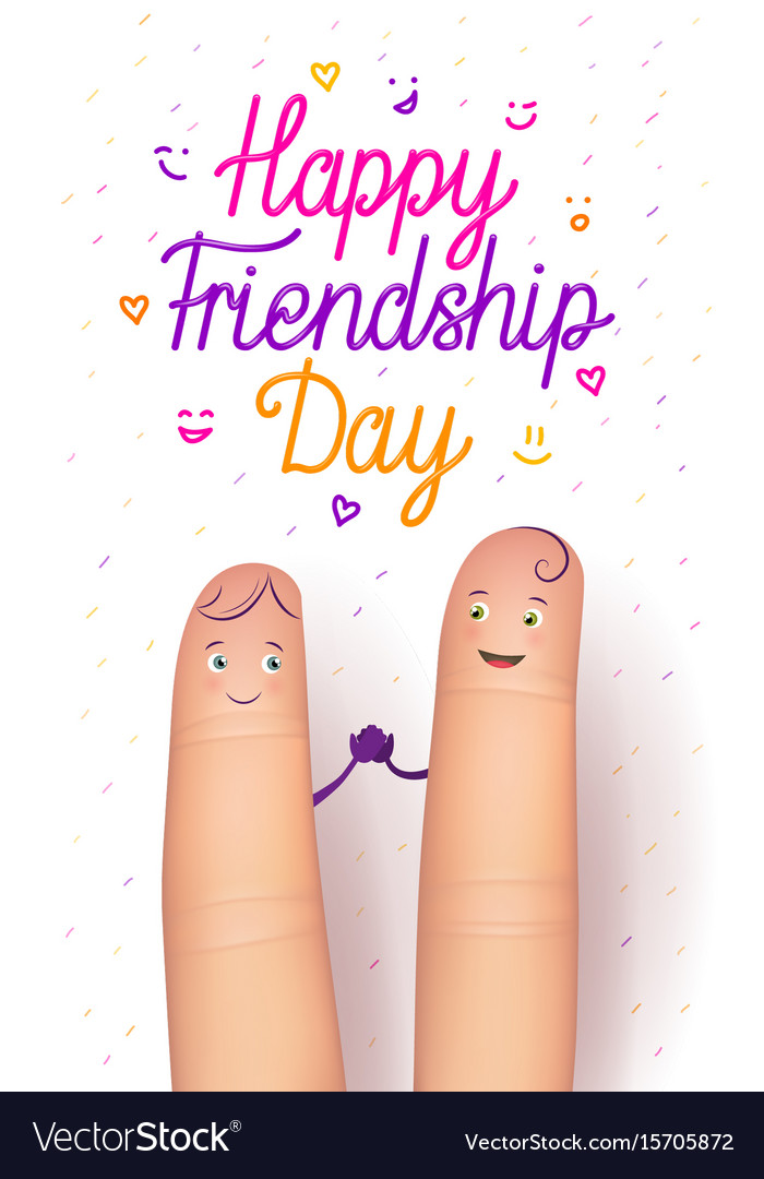 Happy friendship day card vector image