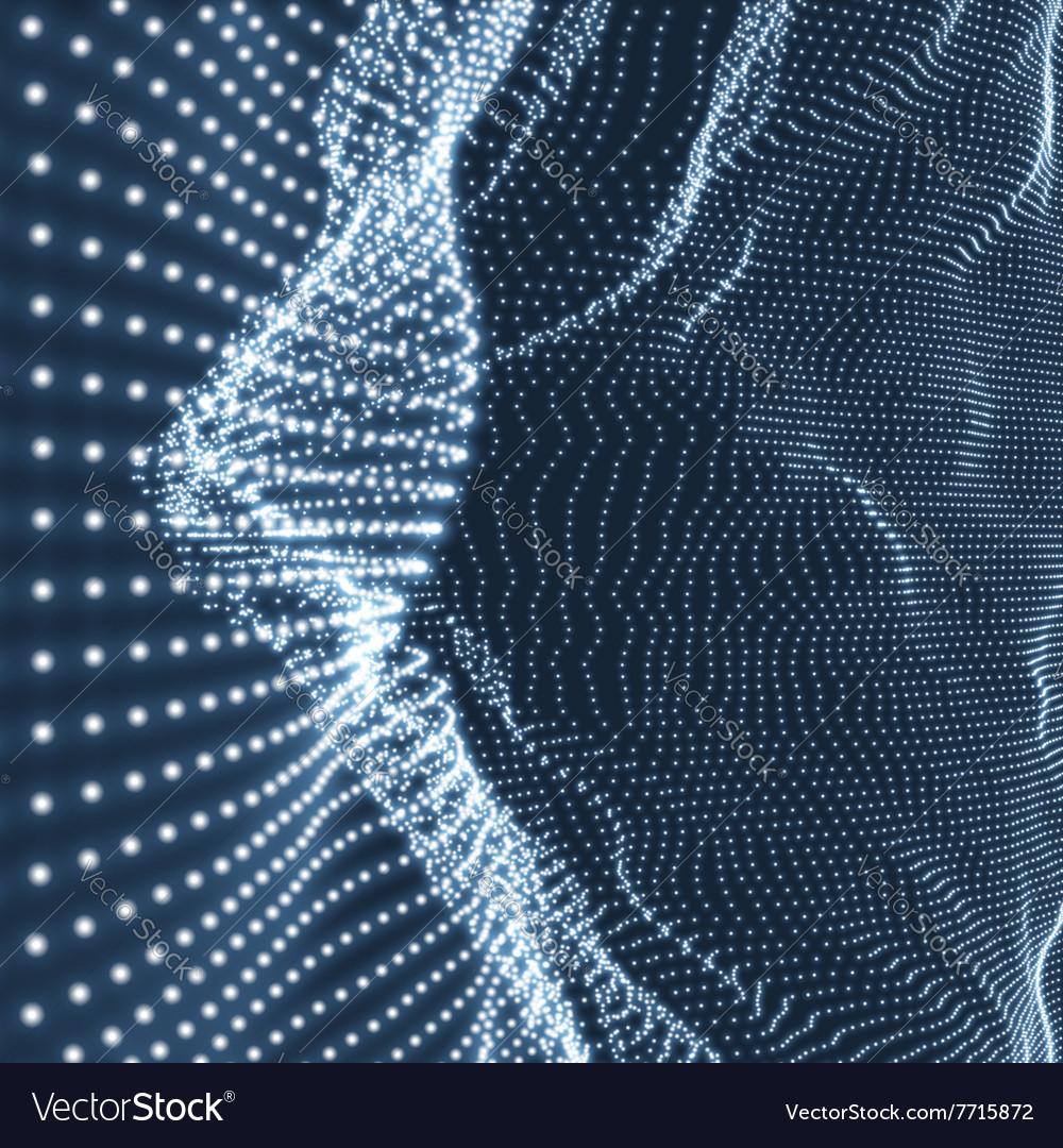 Lattice Structure Network 3D Grid Surface