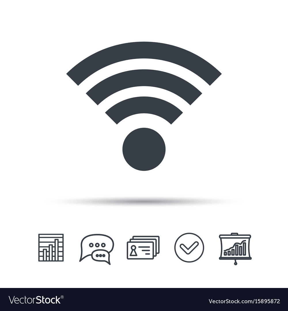 Wifi icon wireless internet sign