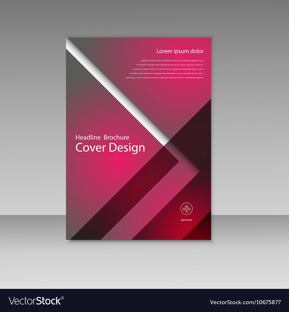 Business report square and geometric cover
