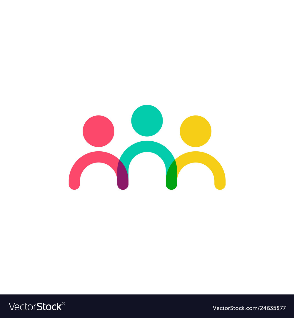Colorful family human people logo icon