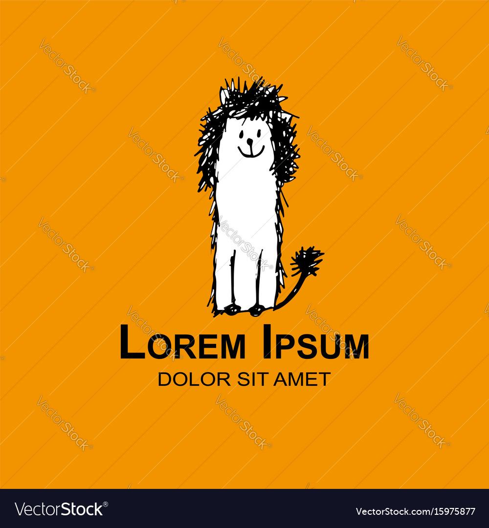 Dog logo for your design vector image
