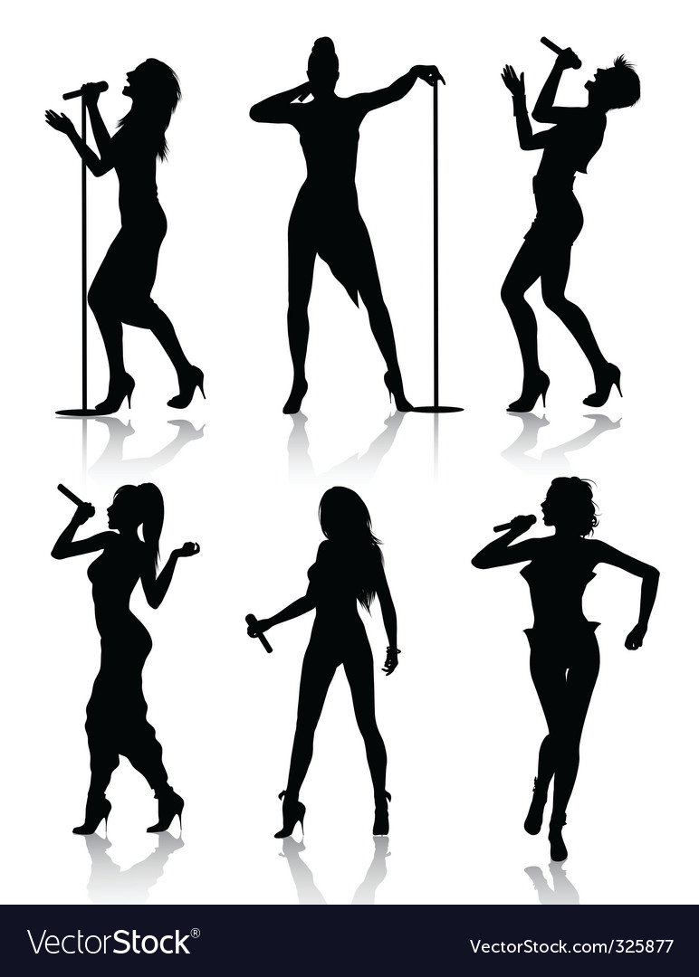 Female singers  vector