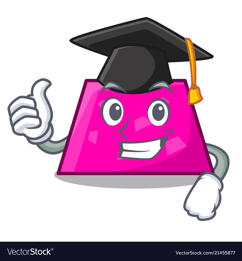 Graduation trapezoid character cartoon style