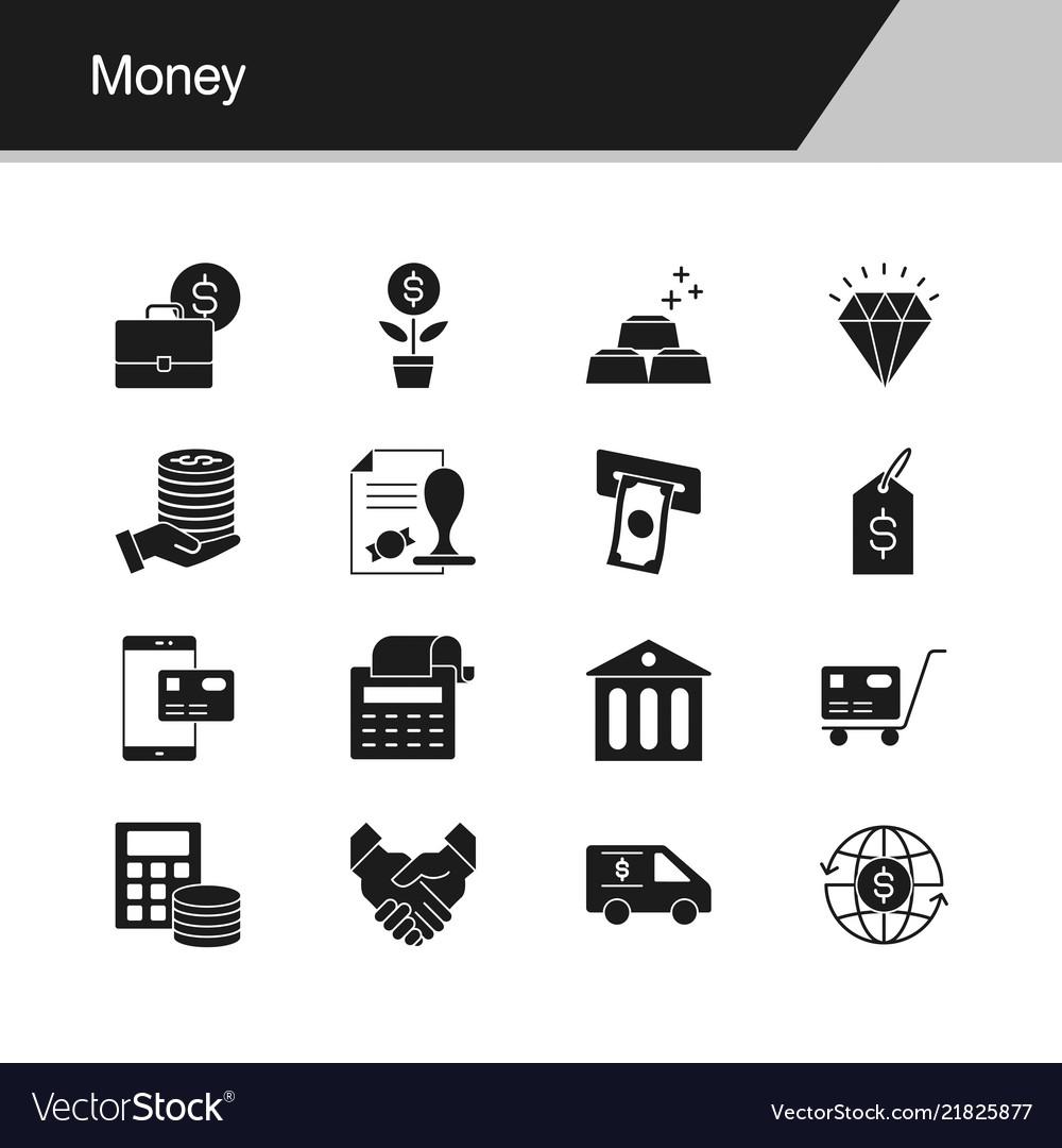 Money icons design for presentation graphic