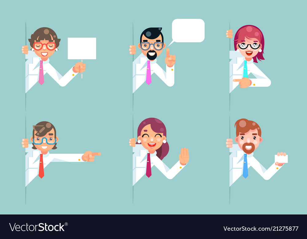 Office workers cartoon support help business