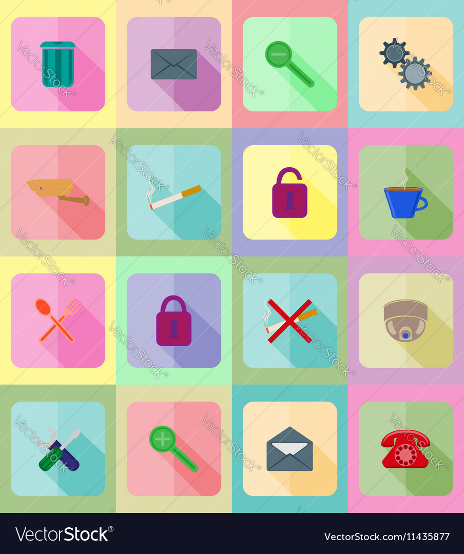 Service flat icons 20 vector image