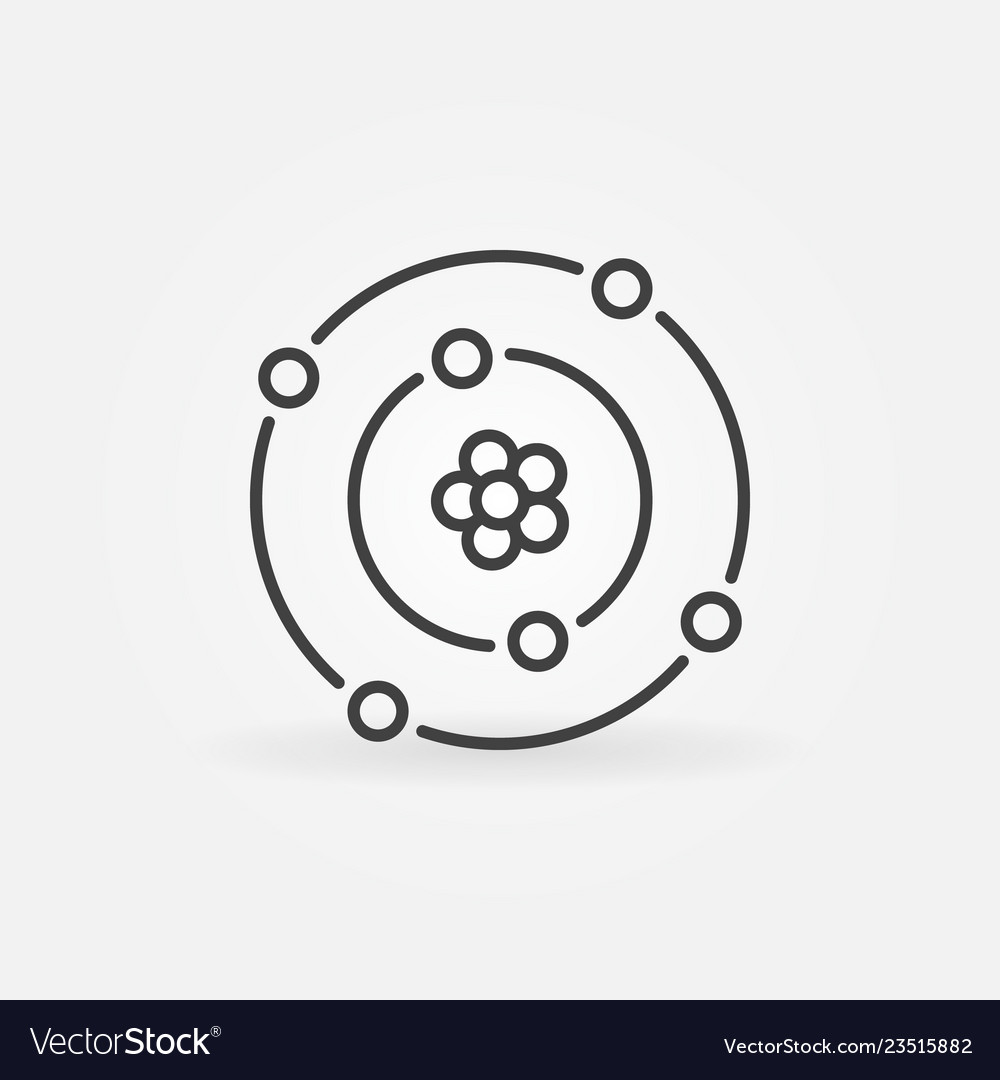 Atom with nucleus and electrons outline