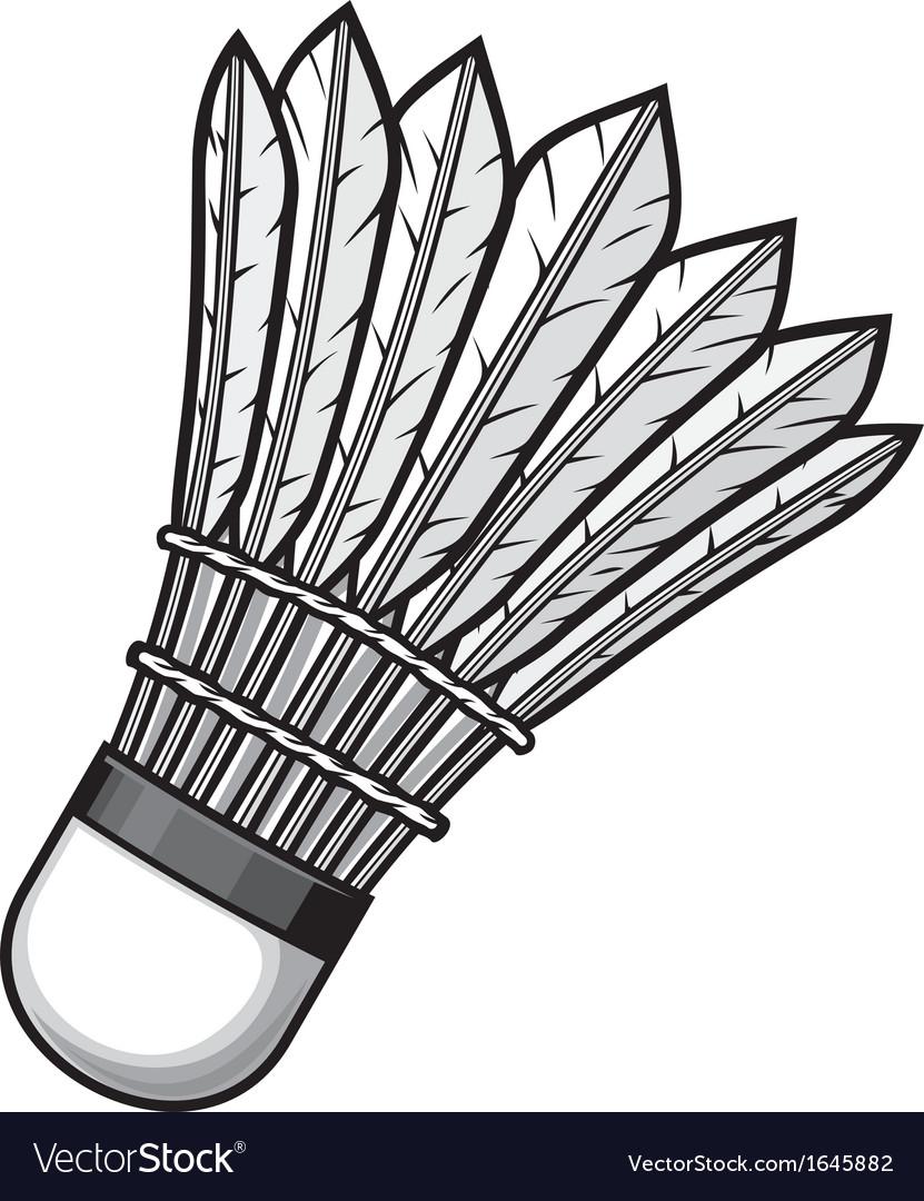 Badminton shuttlecock vector image