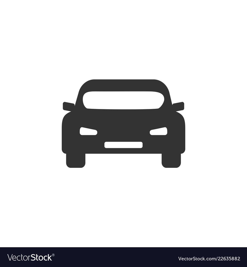 Car icon flat design