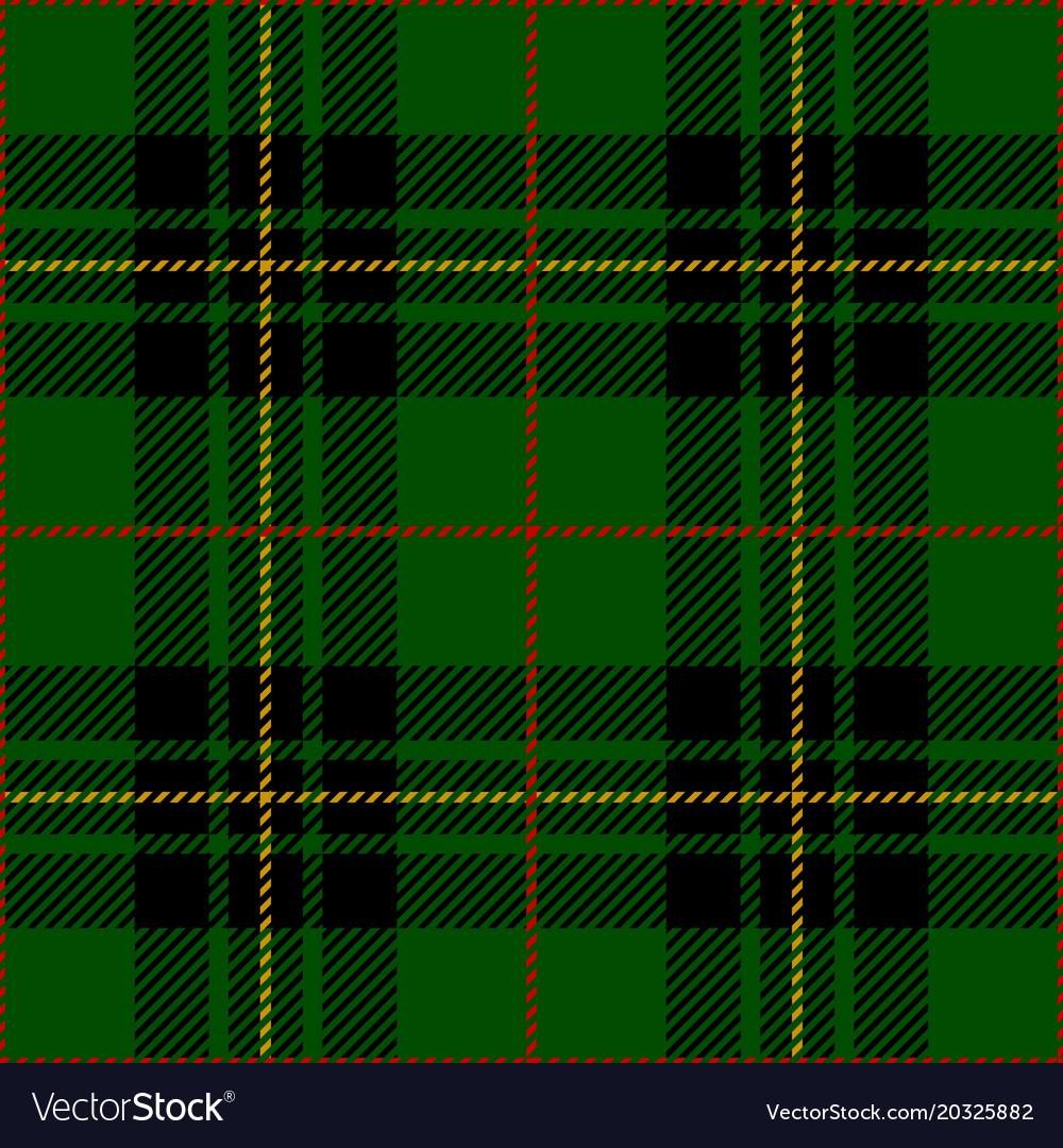 Clan Forbes Scottish Tartan Plaid Seamless Pattern Vector Image
