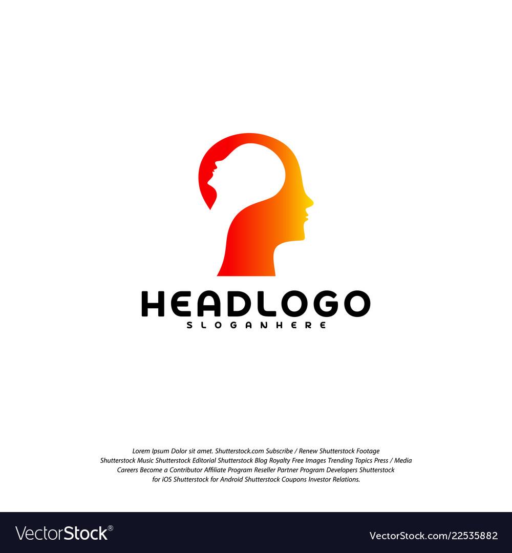 Colorful mind logo head intelligence logo