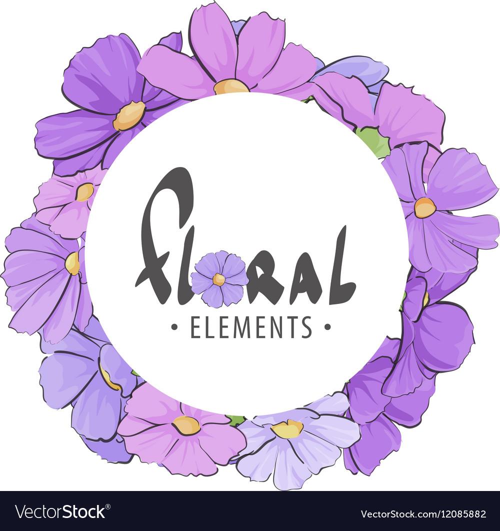 Floral frame of summer flowers vector image