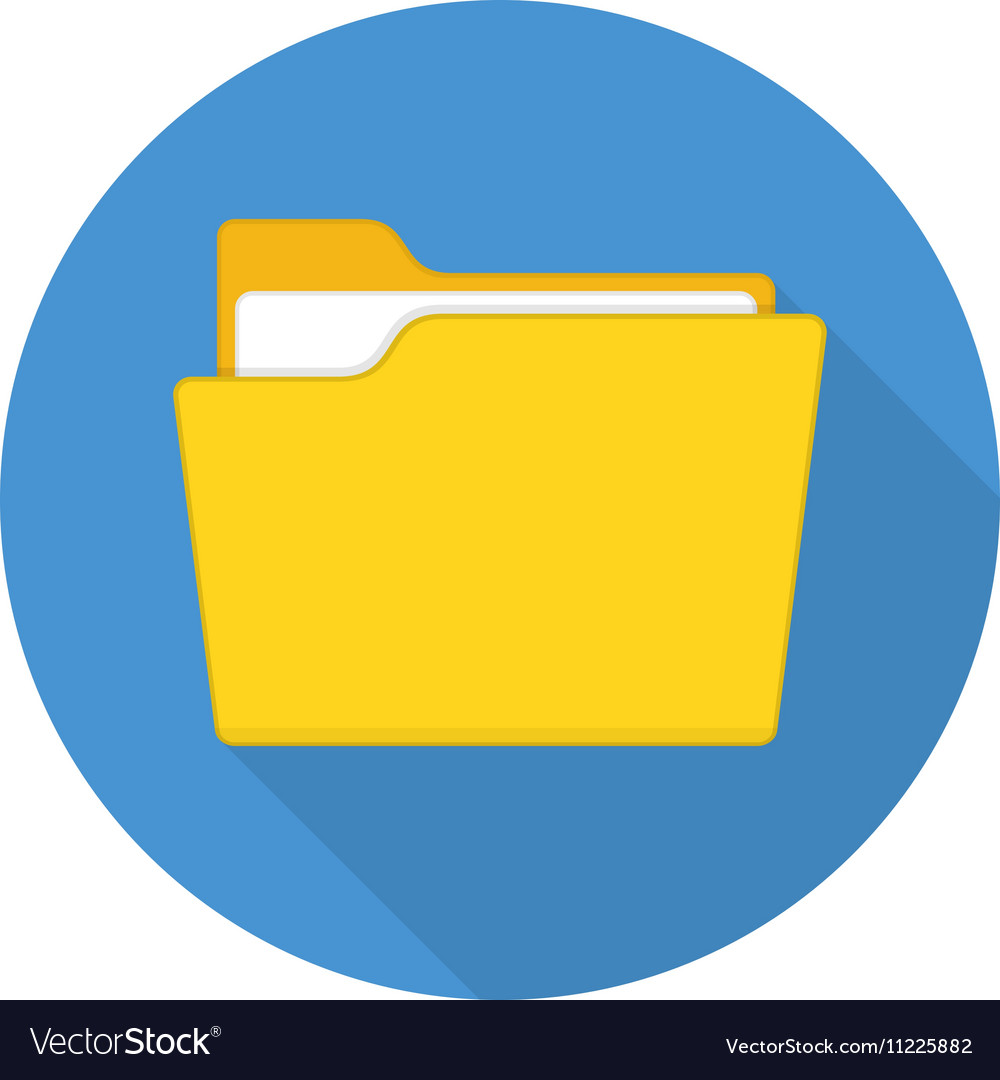 Folder icon with long shadow