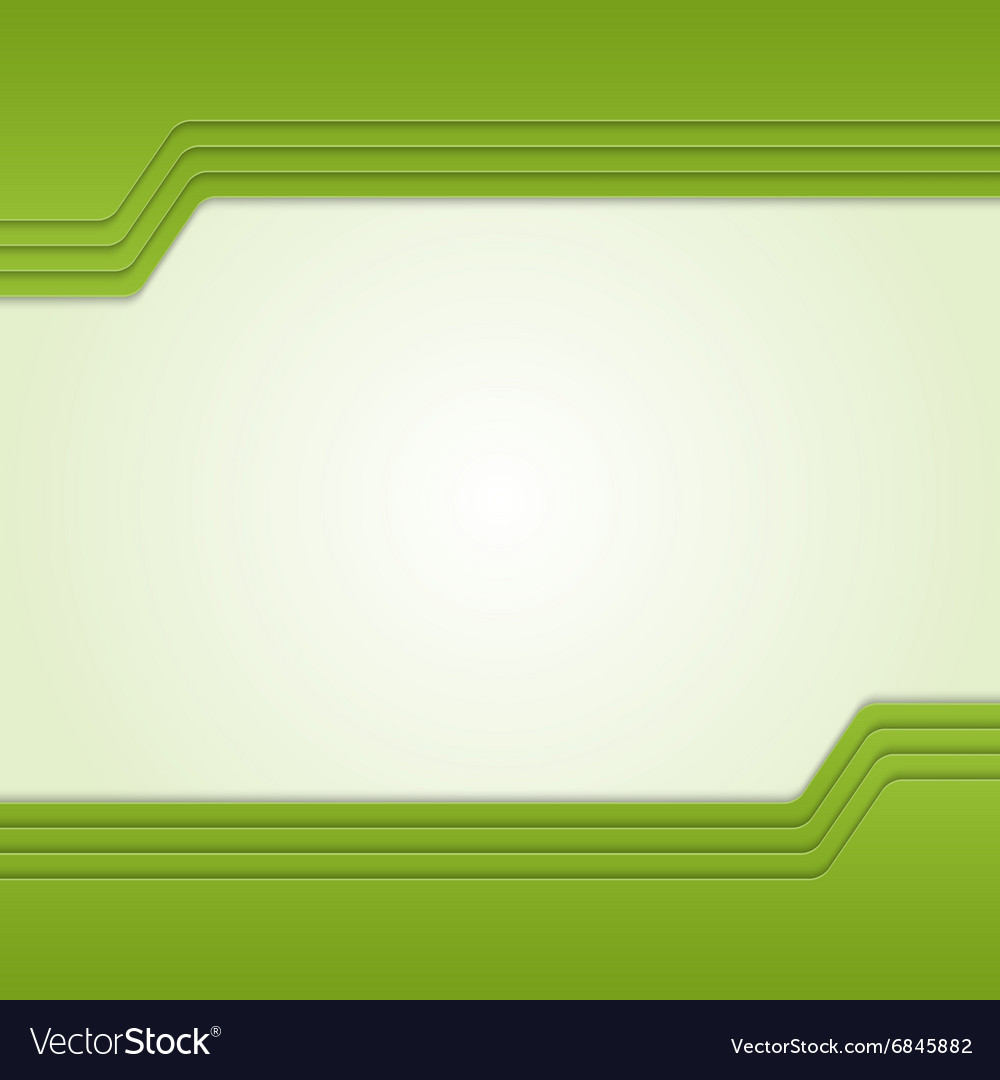 Green background with custom text