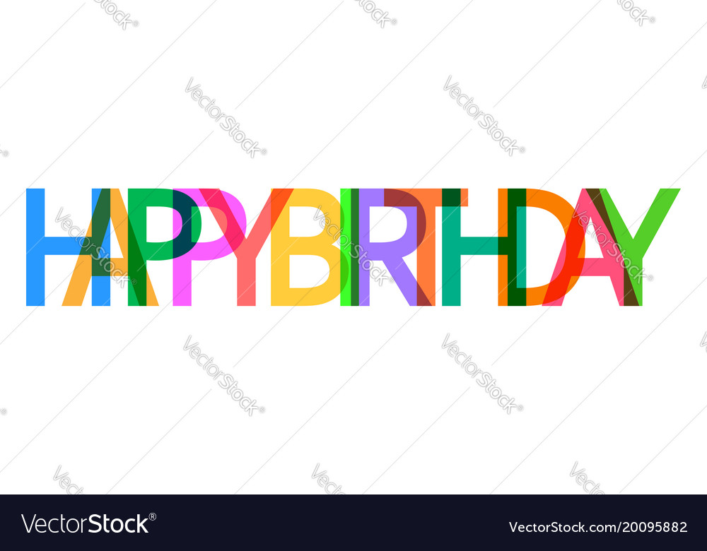 happy birthday icon celebration card with text vector image rh vectorstock com birthday card vector free birthday card vector free