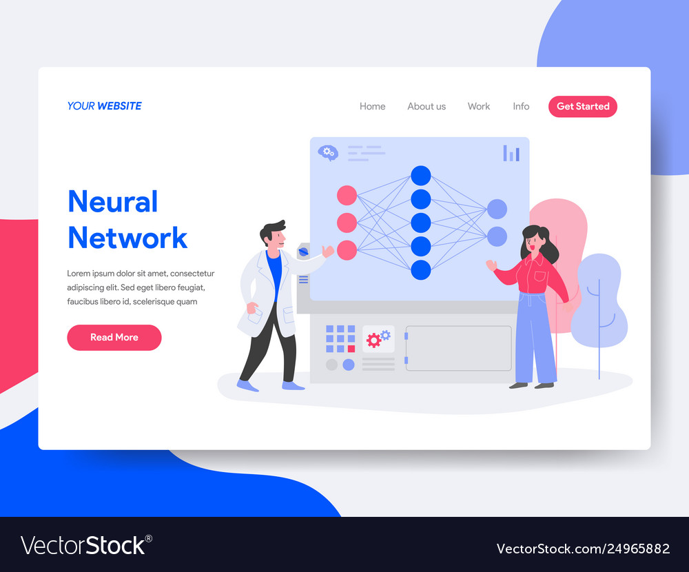 Landing page template neural network concept