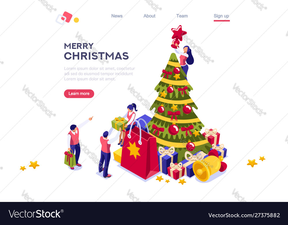 New year holidays web banner