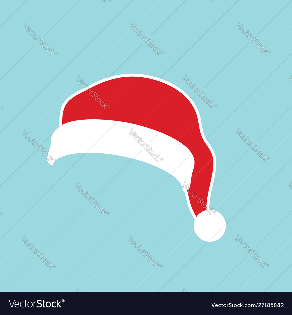 Santa claus hat flat realistic santa claus hat