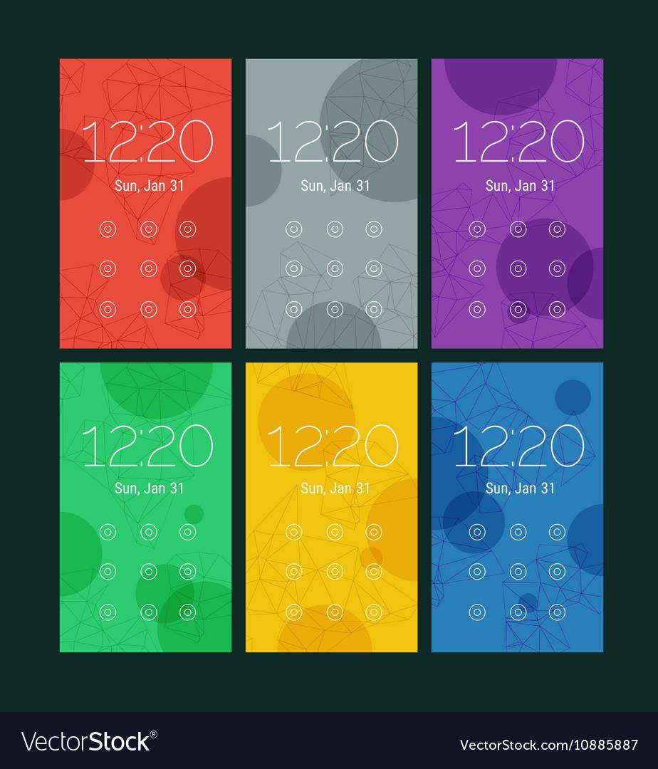 abstract geometric ui screens mockup kit vector image