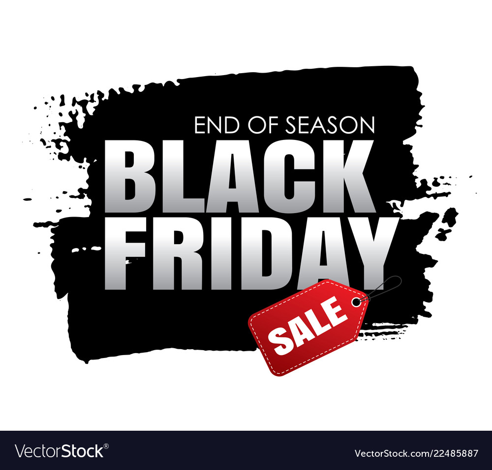 Black friday sale banner with white text on