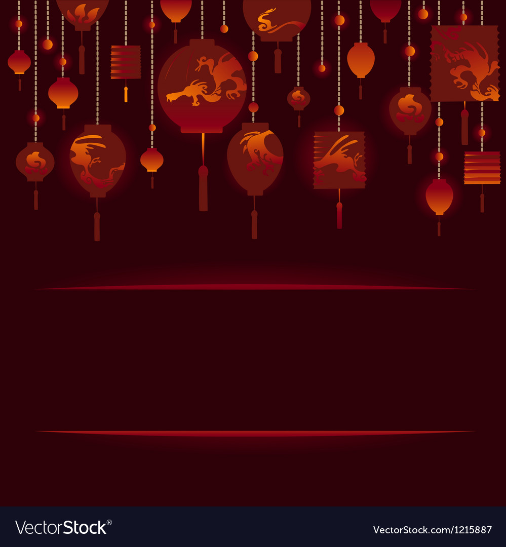 Decorative Background with Red Lamp