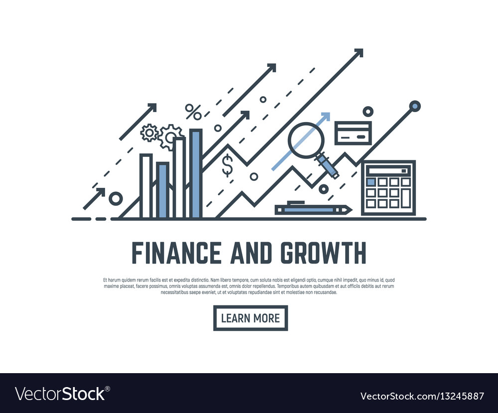 Finance growth banner vector image