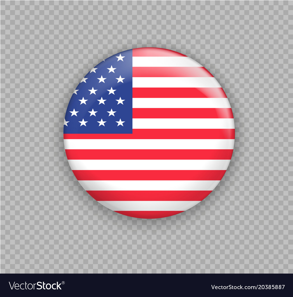 Flag of america the right colors and proportions