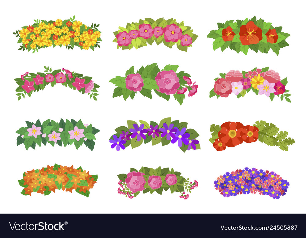 Flower wreaths for head romantic vintage element
