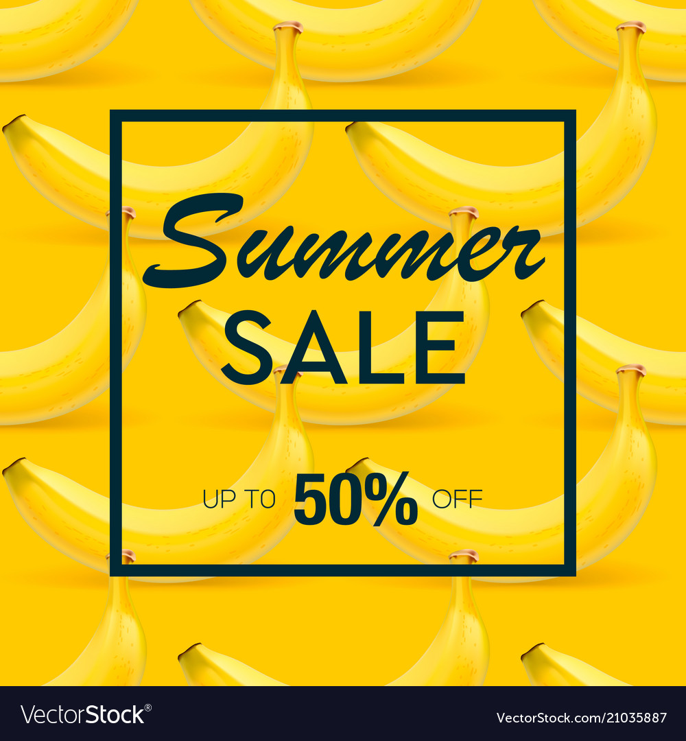 Summer sale banner with background of ripe fruit