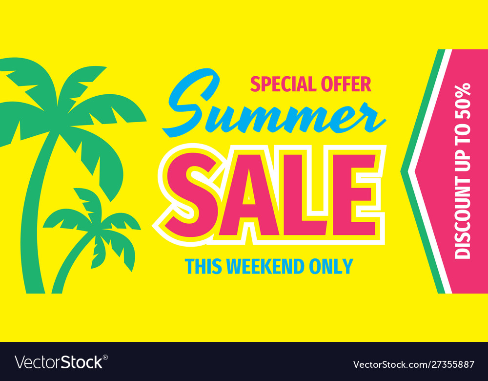 Summer sale special offer - concept horizontal ban