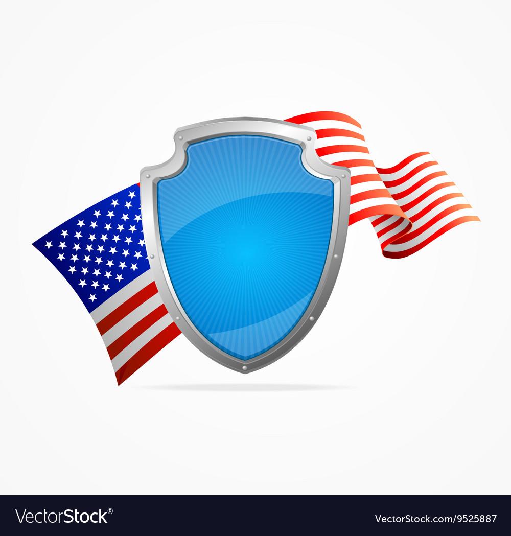 USA Flag and Shield