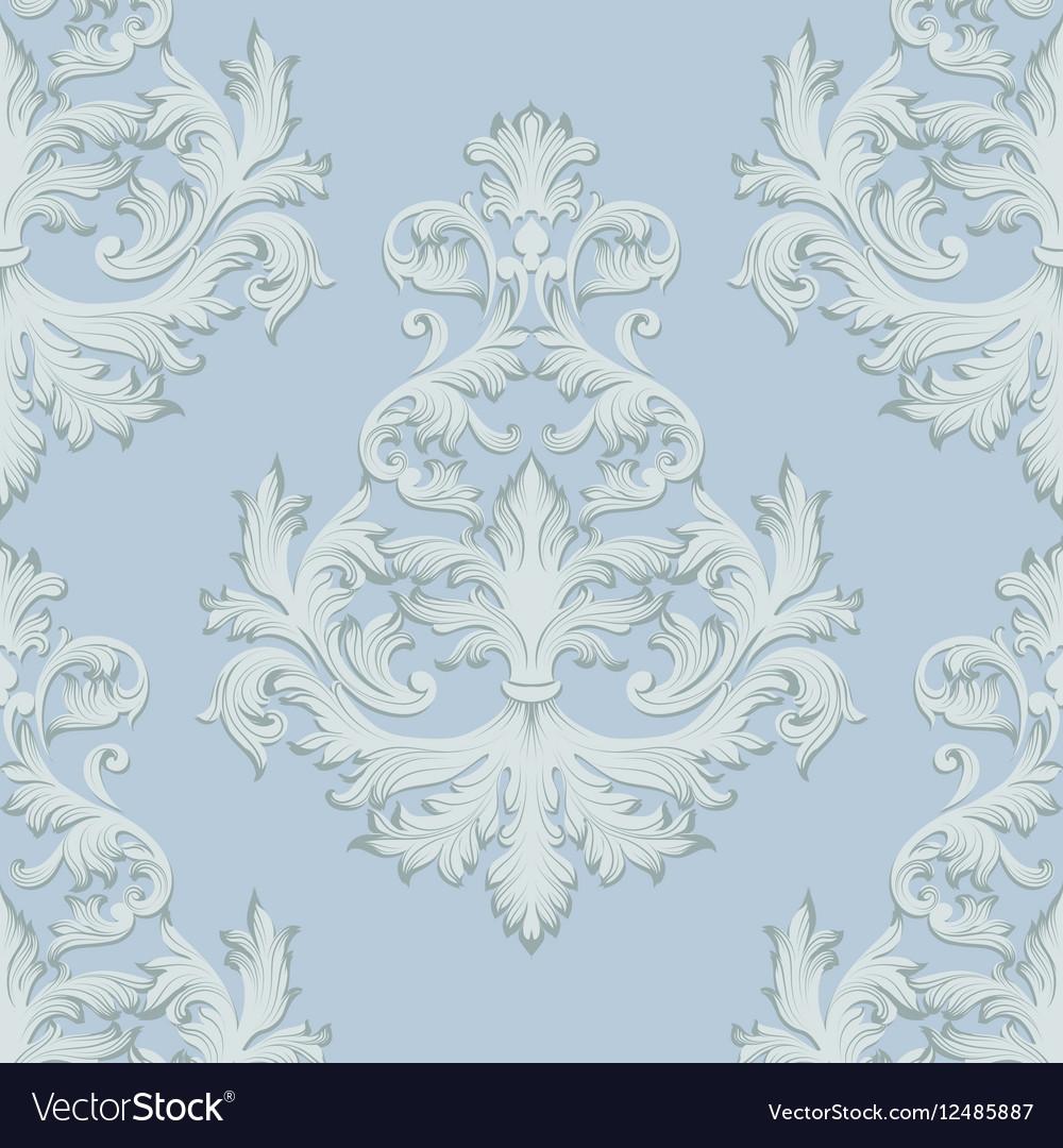 Vintage Baroque damask floral retro pattern vector image
