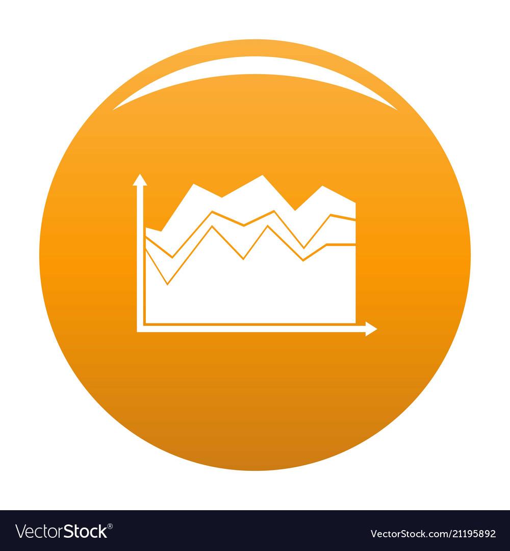 Business graph icon orange