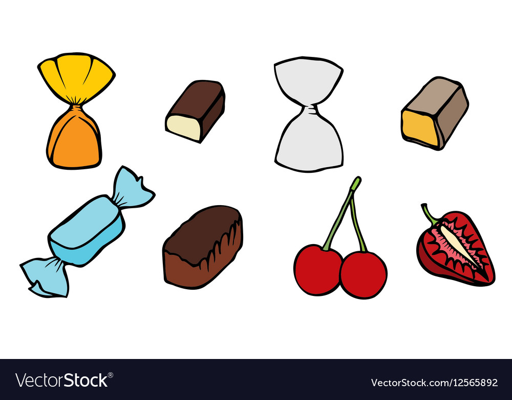 Candy set icons